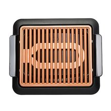 Антипригарная прочная электротермическая плита для барбекю, бездымный гриль для быстрого барбекю с температурным циферблатом, решетка для гриля с подогревом