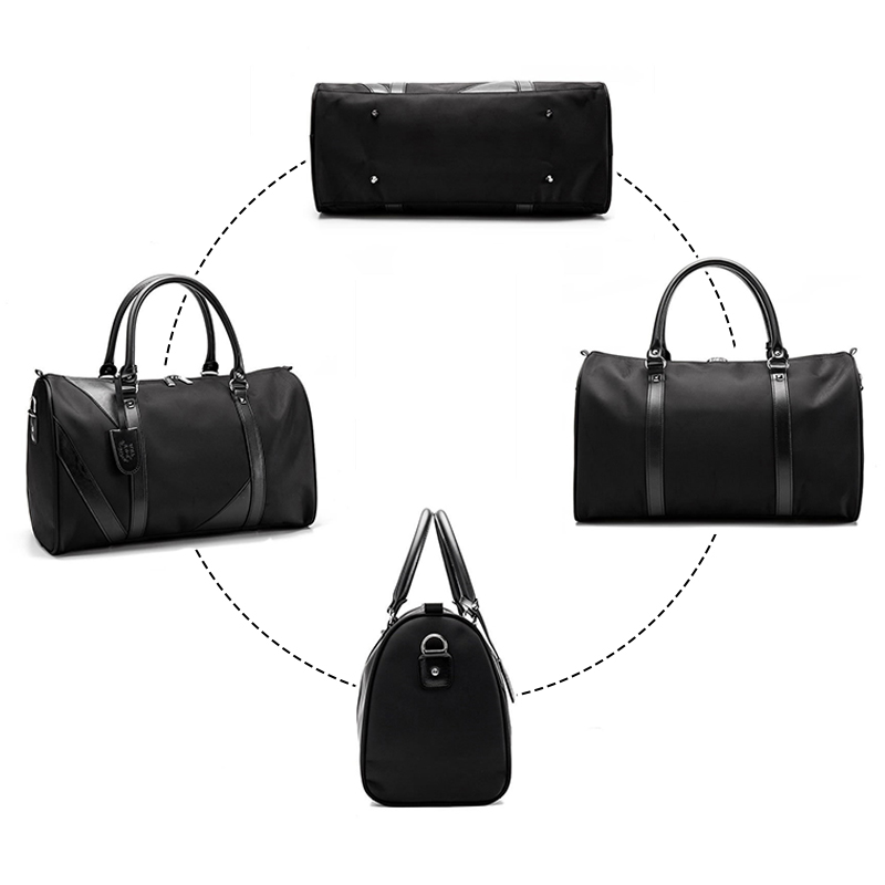 Wobag Fashion Weekend Bag Nylon Travel Bag Men Overnight Duffle Bag Waterproof Cabin Luggage Travel Big Tote Crossbody Gym Bag