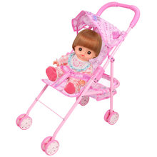 Doll Stroller Foldable Stroller Pram Pushchair Safe Baby Dolls Carriages Pretended Play Furniture Toy for Children Kids Gifts(China)