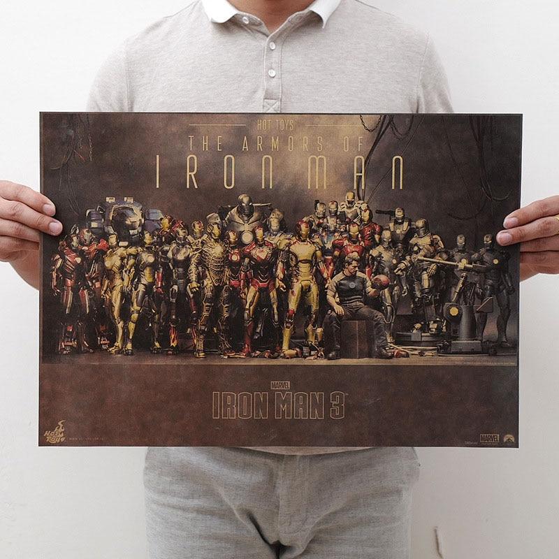 Mling 1 шт., 51,5x36 см, постер из серии Marvel, Мстители, война бесконечности, Ретро плакат, наклейки на стену для гостиной, украшение для дома - Цвет: H14