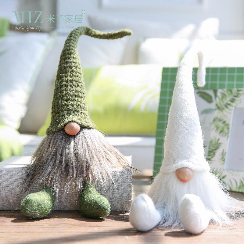 Miz 1 Piece Wizard Doll Fairy Figures Dwarf Gift for Children Desk Accessory Home Decoration Handmade Craft