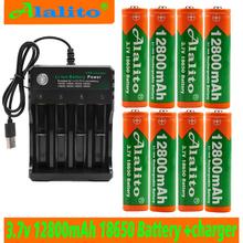 2019 18650 bateria 3 7V 12800mAh akumulator liion do Led bateria do latarki 18650 bateria hurtowa + ładowarka USB tanie tanio ALalito Li-ion Ładowarka Zestawy 2-10 Pakiet 1