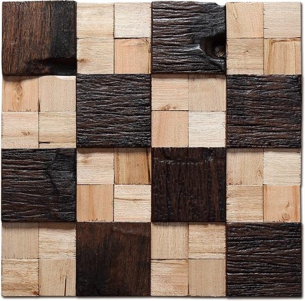Compra azulejo de piso r stico online al por mayor de - Mosaico de madera ...