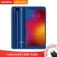 Глобальная версия lenovo K9 4 ГБ 32 ГБ смартфон 13MP четыре камеры 5,7 дюйма 18:9 Android 8,1 Helio P22 Восьмиядерный 4G мобильный телефон 3000 мАч