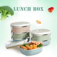 HOT 1 2 3 Layers Stainless Steel Thermo Bento Lunch Boxs Japanese Food Box Insulated Lunchbox