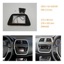 2 Din Автомобильный Радио панель Лицевая панель Адаптер для SUZUKI SX4, S Крест 2013