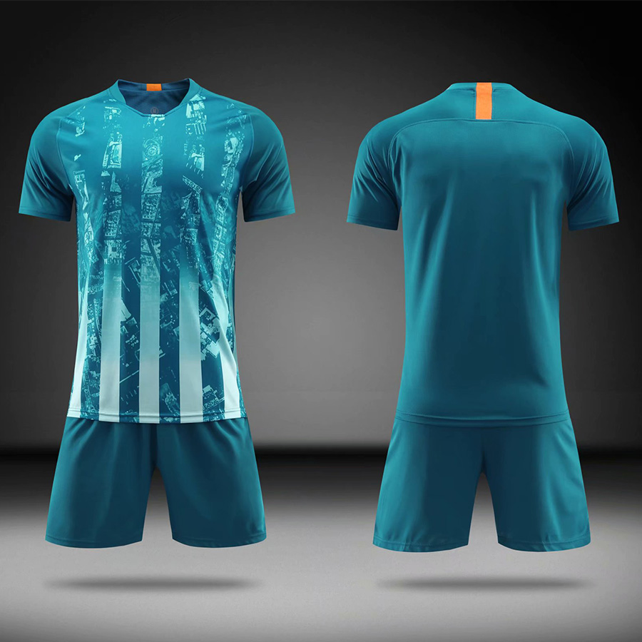 2019Blank Soccer Jersey shorts Adults children jerseys Football uniform Soccer Training Suit Running Sportswear Customized in Soccer Sets from Sports Entertainment