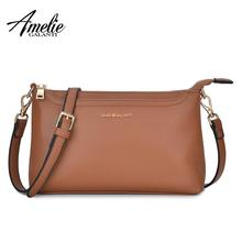 купить AMELIE GALANTI Crossbody Bags for Women Lightweight Purses and Handbags PU Leather Small Shoulder Bag Satchel Adjustable strap по цене 1288.95 рублей