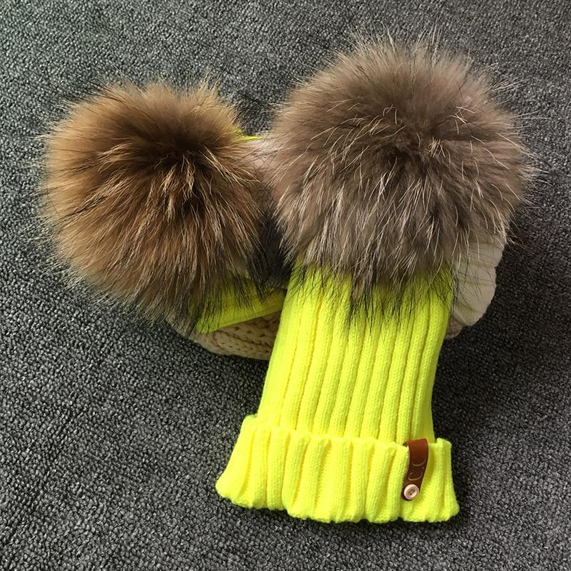 Women winter hat High quality beanies cap real natural 18cm fox fur pompom hats brand bonnet femme cap female casual hat pop winter raccoon fur hats real 15cm fur pompom beanies cap natural fur hat 1pc