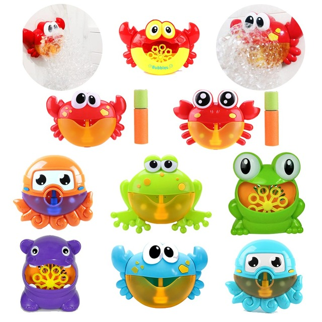 Kids Music Crab Bubble Blower Machine Electric Automatic Crab Bubble Maker Kids Bath Outdoor Toys Bathroom Toys Christmas Gifts