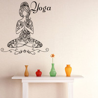 Hot Sale Yoga Meditate Pose Girls Wall Sticker Poster Wall Stickers For Kids Room Living Room