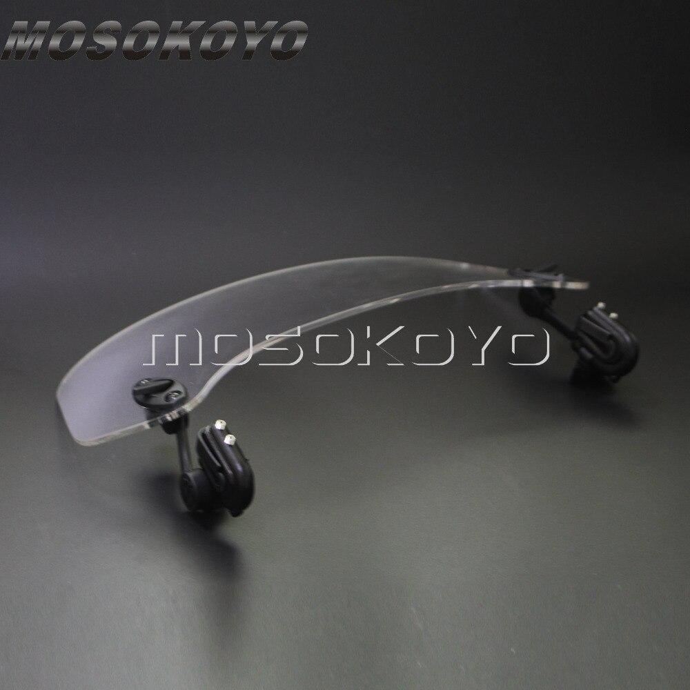 Transparent Moto Augmenté Réglable Vent Écran Pare-Brise Spoiler déflecteur d'air pour Honda BMW F800 R1200GS KAWASAKI YAMAHA - 4