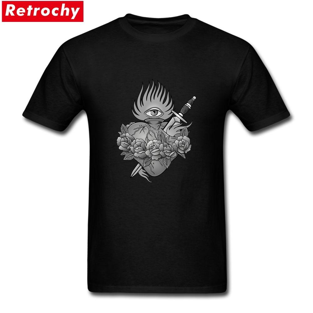 Black t shirt in bulk - T Shirts Bulk Flaming Heart Black And Grey Group Printing On T Shirts Short Sleeve Father S