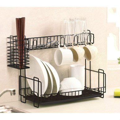 Cutlery storage rack double drip dish rack drain rack kitchen rack dish rack chopsticks cage LU4211