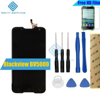 สำหรับ Blackview BV5000 Original LCD lcd + หน้าจอสัมผัส 100% หน้าจอต้นฉบับ Digitizer + เครื่องมือ 5.0 นิ้ว