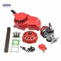 GOOFIT 44mm Cylinder Carburetor Air Filter Ignition Coil Set Big Bore Pull Start 43cc 47cc 49cc