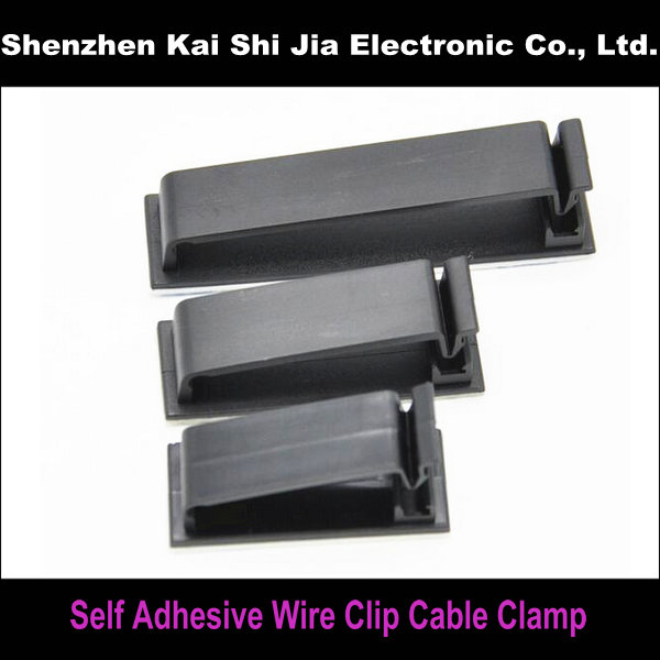 3 Sizes / Set Black Self Adhesive Wire Cable Clamp Cable Drop Wire ...