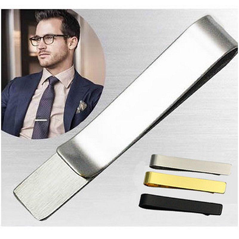 U7 cravatta clip di set 4 pz classico stile semplice oro/oro rosa/nero/argento colore maschio di affari cravatta clip di chiusur