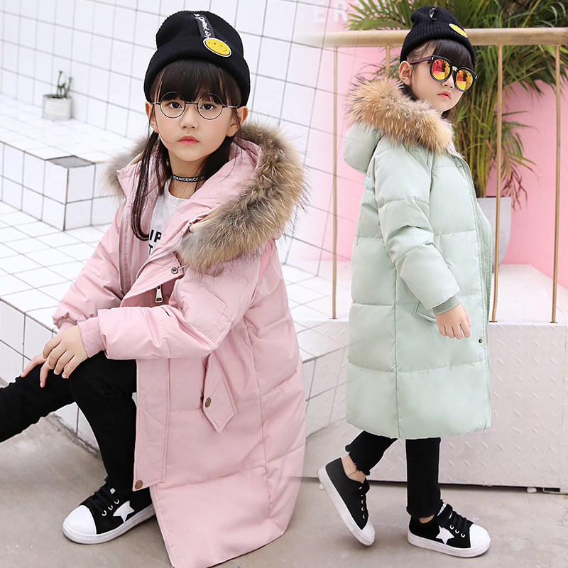Girl 2017 new Korean long down jacket winter for size 6 7 8 9 10 11 12 13 14 years child thickening coat casual outerwear baby boy and girl 2017 new korean thick down jacket winter for size 1 2 3 4 years child long coat kid tide casual outerwear