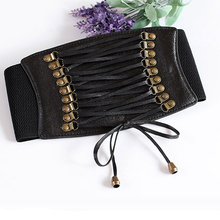 Charming Women Ladies Strap Buckle Cinch Belts Corset Stretch Skinny Waistband High Waist Slimming