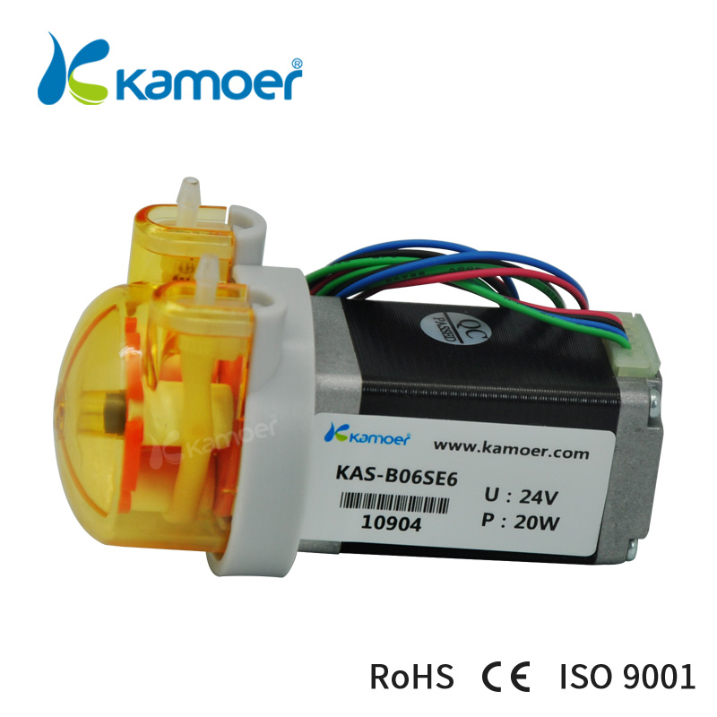 Kamoer 12V/24V small peristaltic pump with stepper motor mini dosing water pump kcp3 small peristaltic pump with 24 v stepper motor aluminum alloy