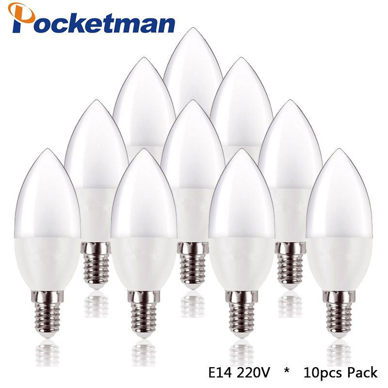 10pcs/Lot led Candle Bulb E14 LED Lamp Indoor Light 220V-240V 5W LED Chandelier Warm Cold White For Home Decoration 5w smd 2835 e14 lamp tubes led light warm white cold white e 14 led candle 220v led lamp free shipping