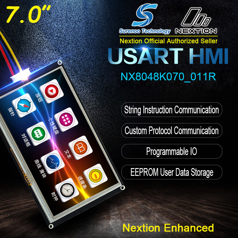 """Image 2 - 7.0"""" NX8048K070 Nextion Enhanced HMI USART UART Serial Resistive Touch TFT LCD Module Display Panel for Arduino Raspberry Pi-in LCD Modules from Electronic Components & Supplies"""