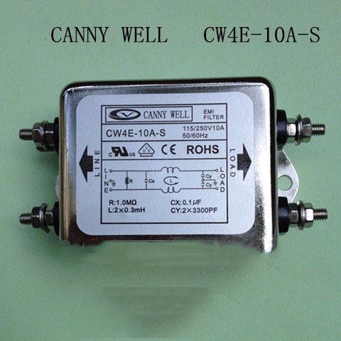 CW4D-10A-S EMI AC 380V 10A power filter three-phase Three line  Electrical Equipment Special output cw4b 30a s emi power filter 380v 30a