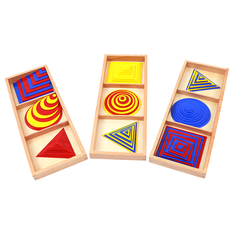 Baby Toy Montessori Circles Squares Triangles Sensory Toys Early Childhood Education Preschool Training Kids Brinquedos Juguetes Home
