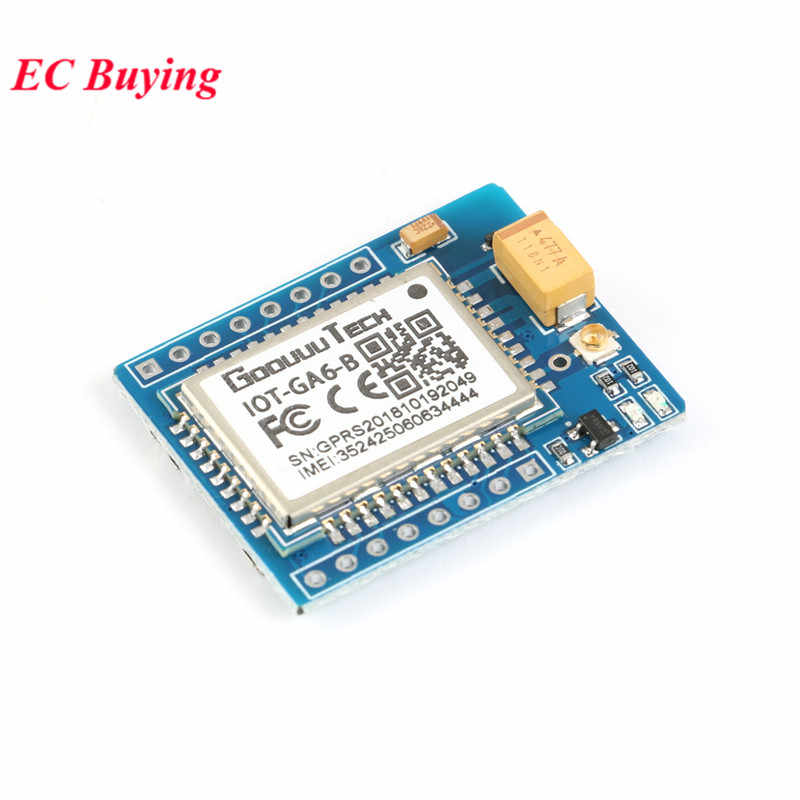 Mini A6 GA6 GSM Module SMS GPRS GSM Voice Development Wireless Extension  Module Board Antenna Tested for Arduino SIM800L GA6-B