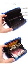 One Piece PU Short Wallet With Zipper