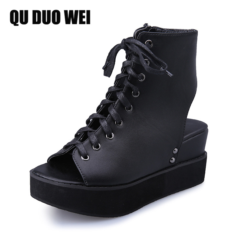 New 2018 Pu Leather Shoes Women Sandals Wedges Platform Sandals Summer Women Shoes High Heels Fashion Casual sandals facndinll new women summer sandals 2018 ladies summer wedges high heel fashion casual leather sandals platform date party shoes