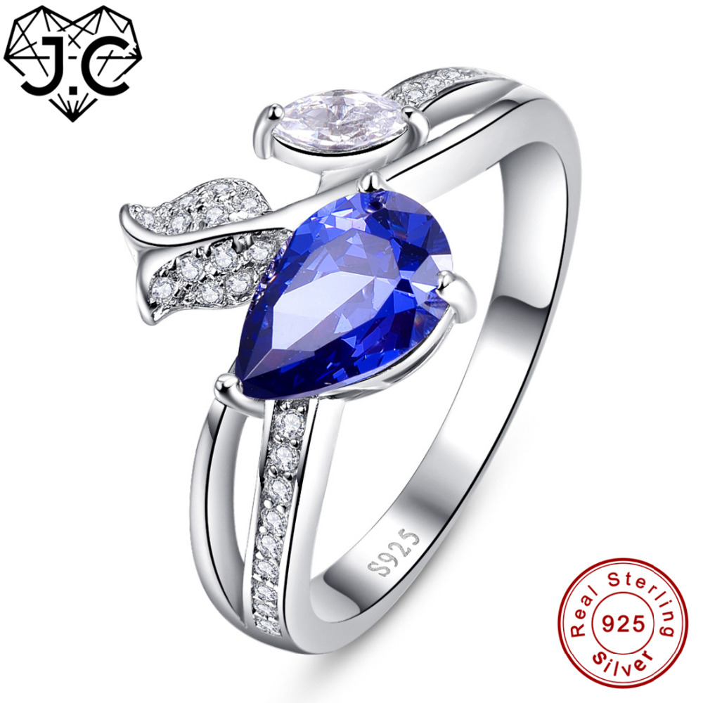 J.C Water Drop Charms Ruby Spinel & Tanzanite Real 925 Sterling Silver Ring Size 6 7 8 9 Luxury Elaborate For Women Fine JewelryJ.C Water Drop Charms Ruby Spinel & Tanzanite Real 925 Sterling Silver Ring Size 6 7 8 9 Luxury Elaborate For Women Fine Jewelry