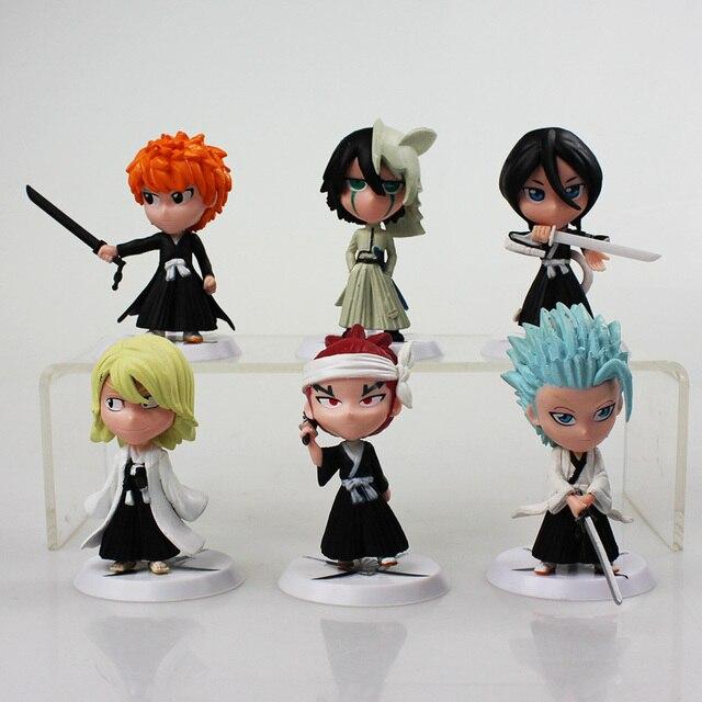 6Pcs lot 7cm Anime Figure Bleach Ichigo Kurosaki Orihime Inoue PVC Action  Figure Model Toys e19d26793b0