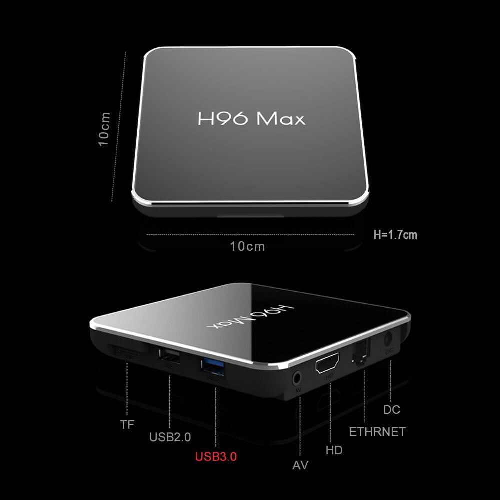 4G RAM 64G Android 8,1 caja de TV H96 MAX X2 Amlogic S905X2 Smart 4 K Media Player 2,4G y 5G Wifi PK X96 max H96MAX Set Top Box Youtube - 4