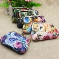 Mini Fashion Women Purse Coin Card Holder Lady Retro Vintage Rose Flower Long Wallet Hasp Casual Clutch Coin Purse Female Gift