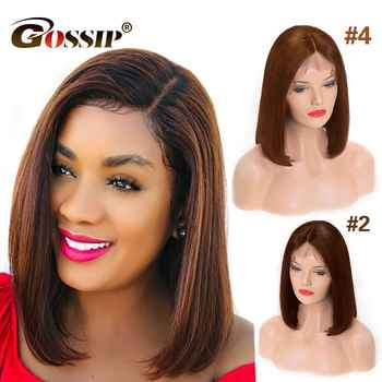 13x6 Bob Lace Front Wigs Short Human Hair Wigs Bob Wig Lace Front Human Hair Wigs For Black Women Straight Remy Brazilian Hair - DISCOUNT ITEM  46% OFF All Category