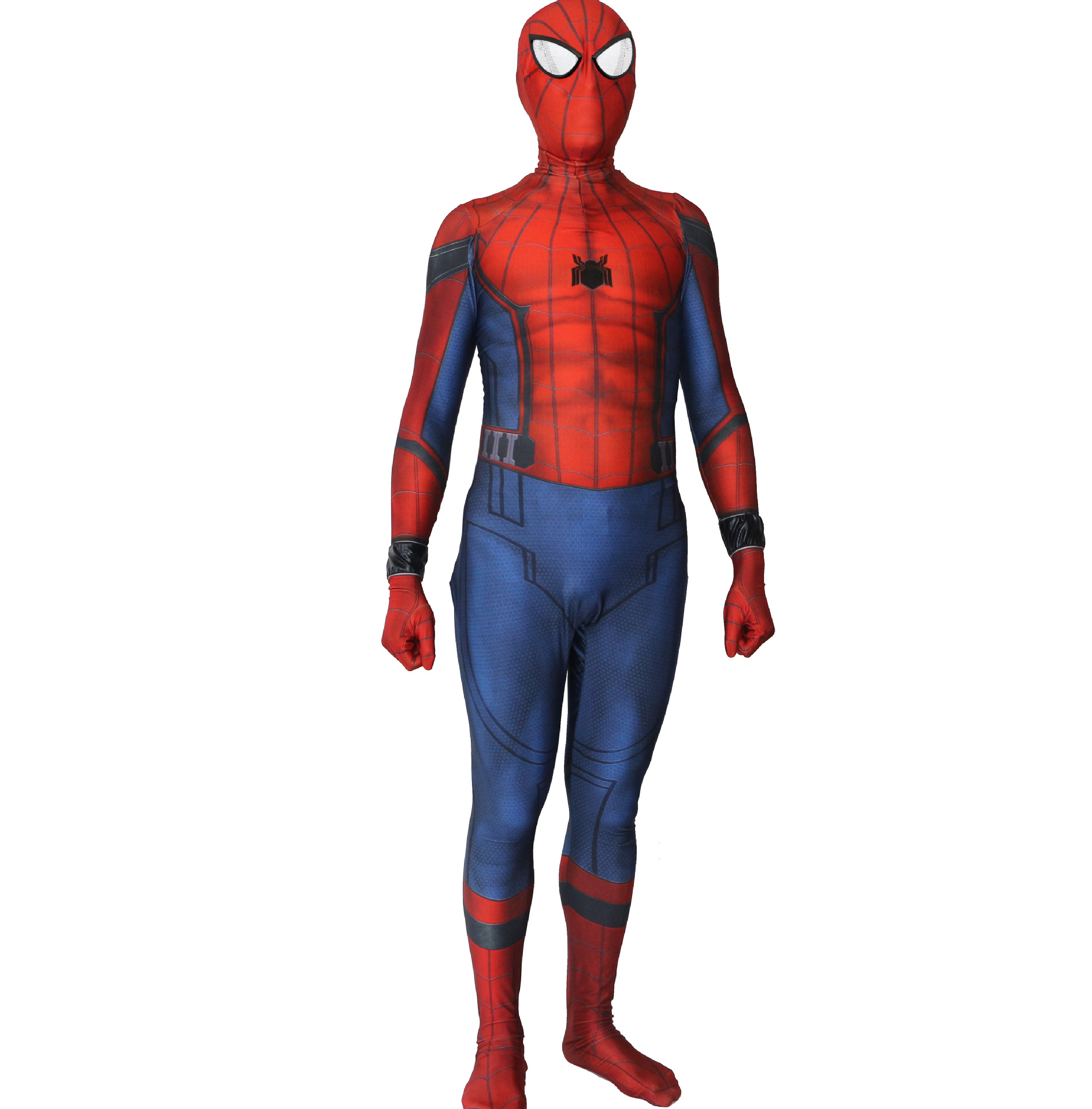 High Quality 3D print Spiderman Costume Amazing  Movie Theme Homecoming Superhero Cosplay Adult Men Halloween Costumes