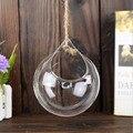 Pastoral Cristal Hanging Vaso de Vidro Flor Hidropônica Pote Micro Paisagem Recipiente Planta Suculenta Terrarium Início Wedding Decor