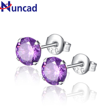 2017 Round Stud Earrings Brand Jewelry Luxury Elegant and Charming Austrian Crystal Earrings For Women