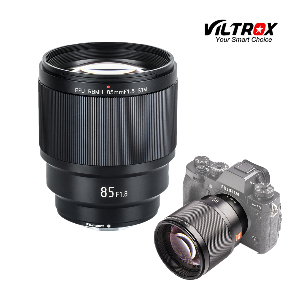 VILTROX 85mm F/1.8 STM Auto Focus Fixed Focus Lens F1.8 Lens For Camera Fujifilm X-mount X-T3 X-H1 X20 X-T30 X-T20 X-T100 X-Pro2