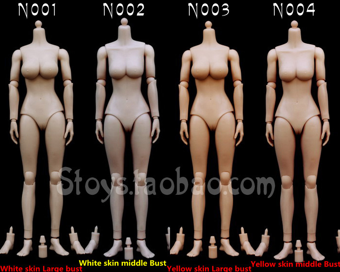 ФОТО Yellow skin and White skin doll body,1/6  Scale Female Body,DIY figure Model Parts Action figure doll body