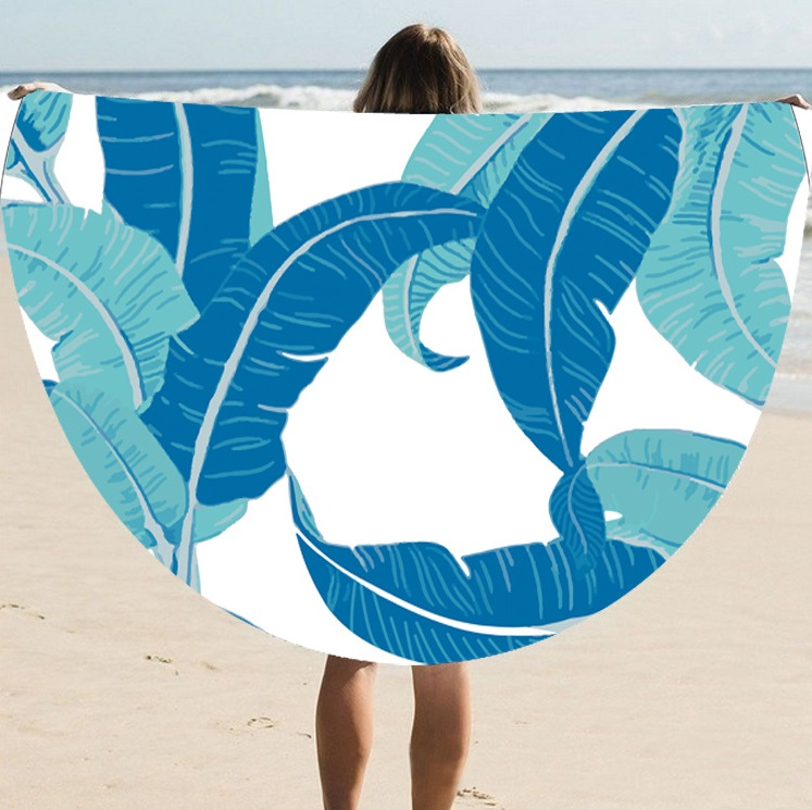 The Most Fashionable Manufacturers Of European And American Round Bath Towel Shawl Sunscreen Digital Printing Beach Towel St06-7