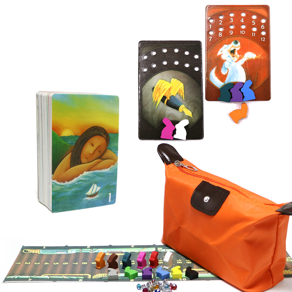 High Quality Obscure Dixit Cards Game Basic Deck Wooden Bunny Russian And English Rules For Kids Family Party Board Game