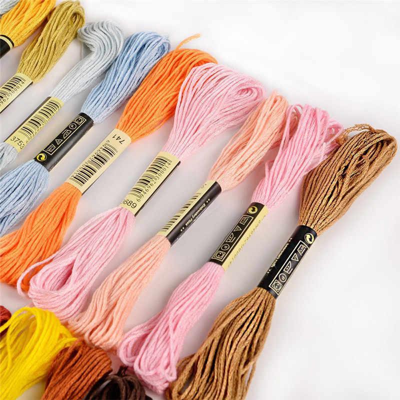 Cxc 50 قطعة مجموعة القطن عبر الخيط غرزة الموضوع التطريز الخياطة Skeins متعدد الألوان