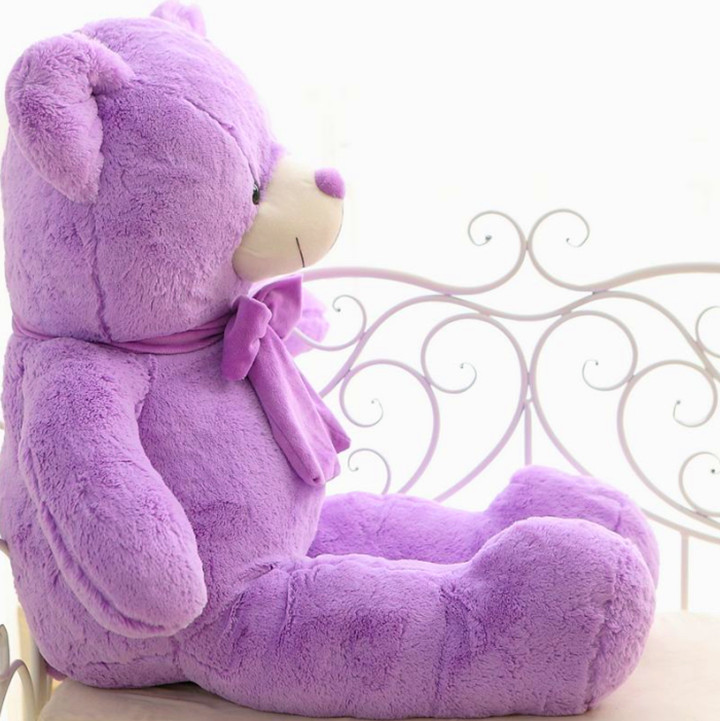 lovely purple bear doll 100cm bowtie teddy bear plush toy doll soft throw pillow , birthday gift  x099 lovely giant panda about 70cm plush toy t shirt dress panda doll soft throw pillow christmas birthday gift x023