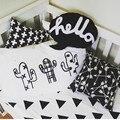 Crianças fronha cactus design preto & branco capas de almofadas de algodão crianças meninos meninas quarto decoração almofadas cover Home Textile