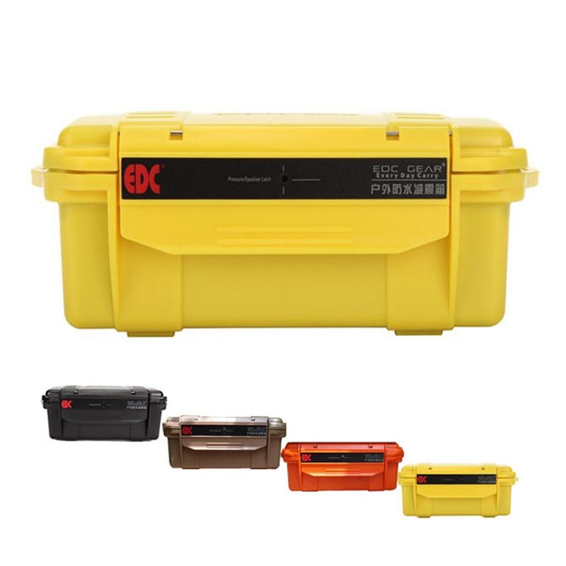 E1170 / 1 Kvaliteetne veekindel löögikindel karp õhukindlalt suletud korpuse varustus kaasaskantav kuivkonteinerite hoidik EDC
