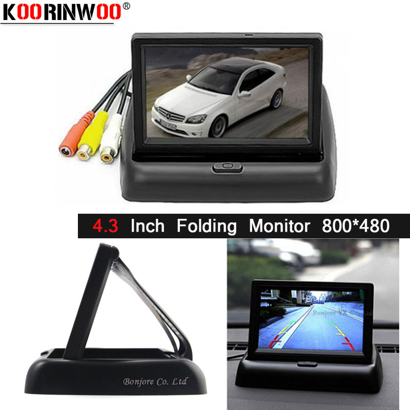 Koorinwoo 4 3 TFT LCD Car Reverse Rear View Monitor 800 480 FOR DVD Rear view