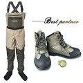 Pesca ropa botas de caza al aire libre vadeo pantalones y zapatos Aqua zapatillas de fieltro único botas de pesca DXMU1